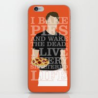 pushing daisies iPhone & iPod Skins featuring Pushing Daisies - Ned by MacGuffin Designs