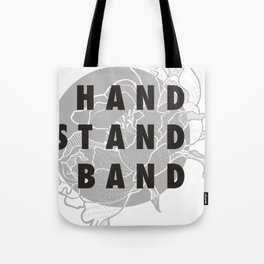 Handstand Band Grey Tote Bag