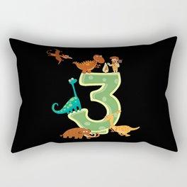 Dino 3rd Birthday Gift Dinosaur Kids Boys Rectangular Pillow