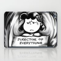 psych iPad Cases featuring Director and psych redirector of everything. Ms. Lucy by Kristy Patterson Design