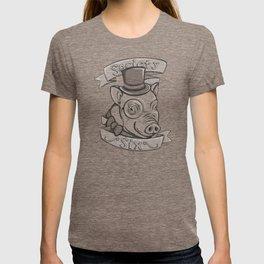 Gentleman Pig (S6 Tee) Black & Gray T-shirt