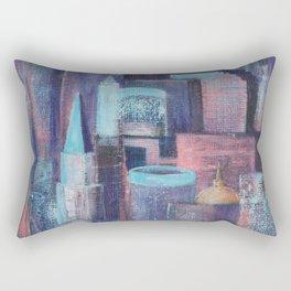 City at Dawn Rectangular Pillow