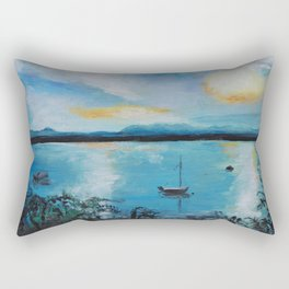Lake Champlain at Sunset Rectangular Pillow
