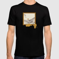 Picture MEDIUM Black Mens Fitted Tee