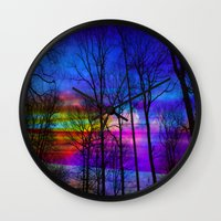 the moon Wall Clocks featuring Moon by haroulita