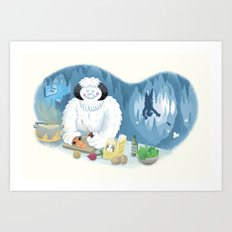 Frozen Dinner Art Print