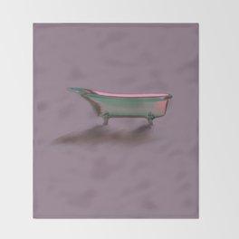 Bathtub Vintage Retro Art Deco// Shower Curtain Throw Blanket