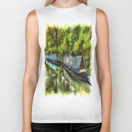 Narrow Boats Little Venice Art Biker Tank