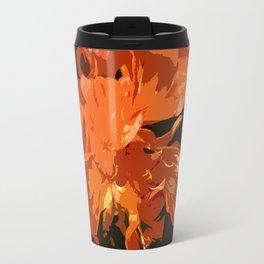 Orange Bush Lily Travel Mug