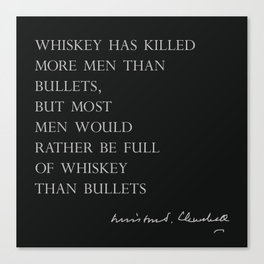 Whiskey & Bullets Canvas Print