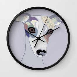 Whippet in Denim Colors Wall Clock