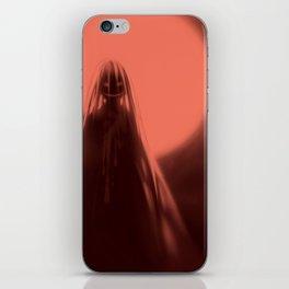 Red Moon (#Drawlloween2016 Series) iPhone Skin