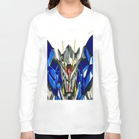 gundam Long Sleeve T-shirts featuring Gundam 00 by Glen Howy