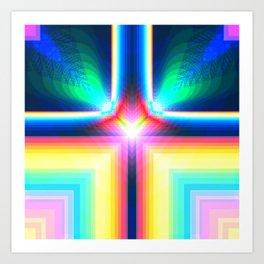 Digital Rainbow Art Print