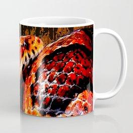 Grunge Coiled Corn Snake Coffee Mug