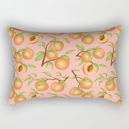 Practice What You Peach - Peaches on Pink Rectangular Pillow