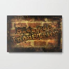 S1I Vintage Brick Griffiti Metal Print