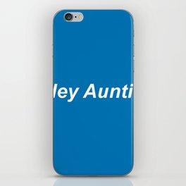 auntie: blue iPhone Skin