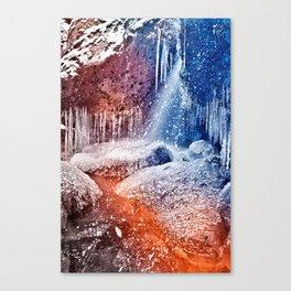 Acrylic Winter Stream Canvas Print
