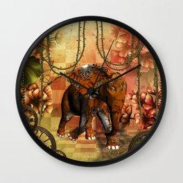 Steampunk, steampunk elephant Wall Clock
