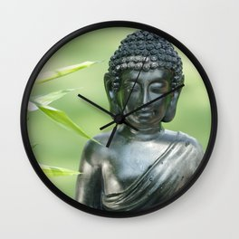 Find Buddha calm in the Summer Garden Wall Clock