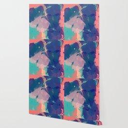 Pastel Abstract Summer Pattern Wallpaper