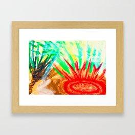 Brushfire breaking out in Florida Framed Art Print