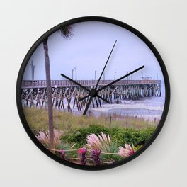 The Last Day Of The Surfside Pier Wall Clock