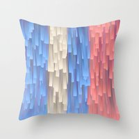 fringe Throw Pillows featuring Fringe (Blue) by Jacqueline Maldonado