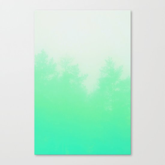 Out of focus - cool green Canvas Print