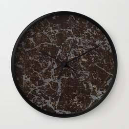 Crystallized gold stone texture Wall Clock
