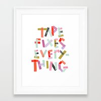 tape Framed Art Prints featuring tape  by ELLA CHERREY