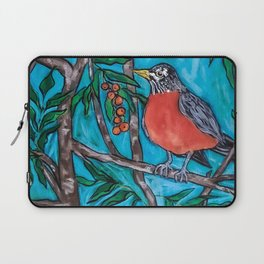Robin Redbreast in the Mountain Ash Laptop Sleeve
