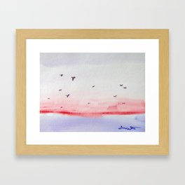 Seagulls over the Sea Framed Art Print