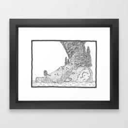 Fire on Foot Island Framed Art Print