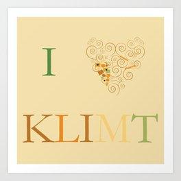 I heart Klimt Art Print