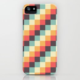 When dad was young - Pixel pattern in muted pastel colors iPhone Case