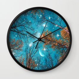Starry Sky in the Woods Wall Clock