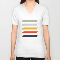 parks and rec V-neck T-shirts featuring Rec Stripes by After Hours