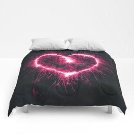 Firework Heart (Color) Comforters