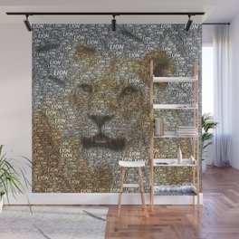 WordArt Lion Wall Mural