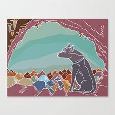 Hyena Dusk Canvas Print