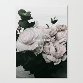 Add Flowers Canvas Print