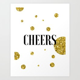 Champagne Quotes Cheers POP FIZZ CLINK Sign Printable Art Foil Print Gold Foil Alcohol Quote Art Print