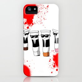 Reservoir Colours (with blood and light colored t-shirts) iPhone Case