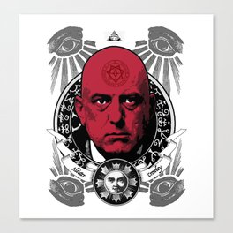 Aleister Crowley T-Shirts by LosFutbolko Canvas Print