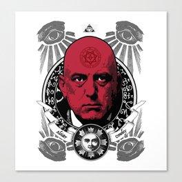 Aleister Crowley T-Shirts by LosFutbolko Canvas Print