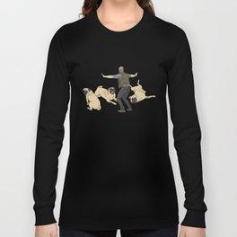 Jurassic Pugs Long Sleeve T-shirt