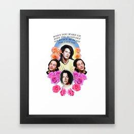 Saint Keanu Framed Art Print