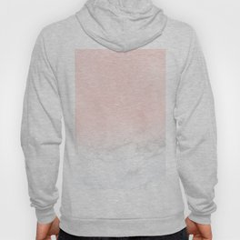 Blush Pink on Gray and White Marble II Hoody